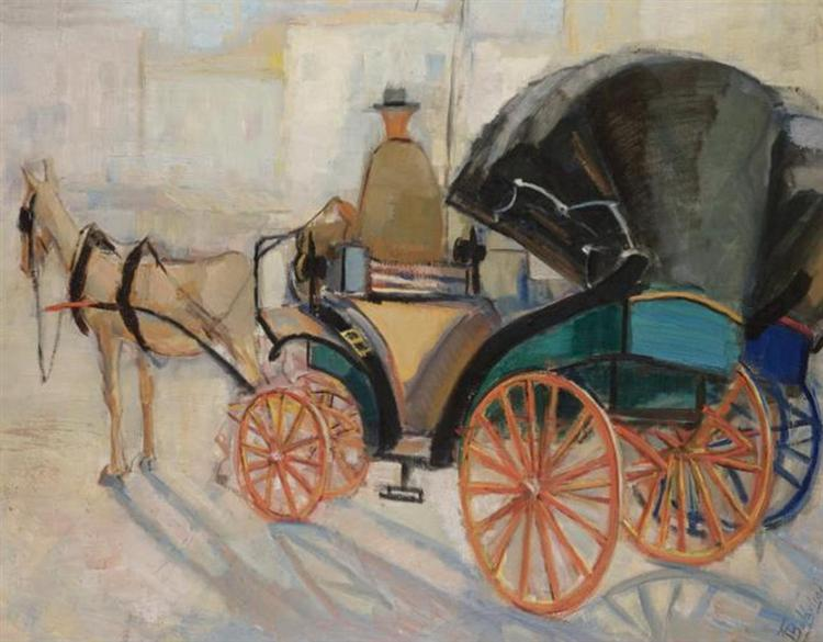 A horse-drawn carriage - Periklis Vyzantios
