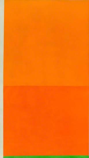 Bright Orange with Green, 1988 - Peter Joseph