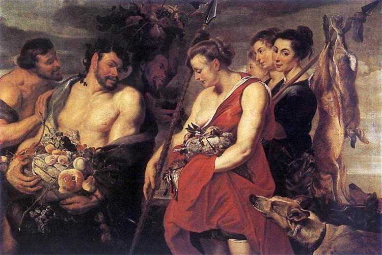 Diana Presentig the Catch to Pan, 1615 - Peter Paul Rubens
