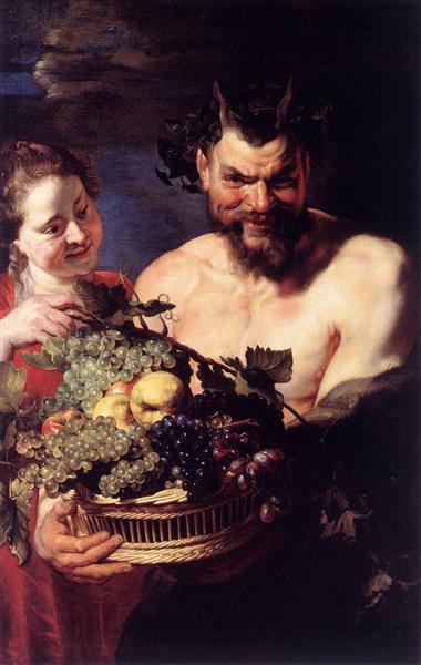 Satyr and Girl, c.1615 - Peter Paul Rubens