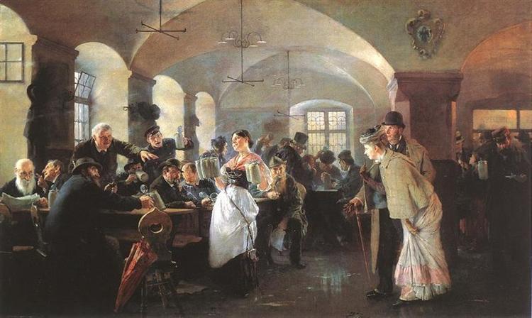 In the brewery in Munich, 1892 - Philip de Laszlo