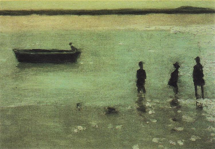 Beach at Etaples, 1887 - Philip Wilson Steer