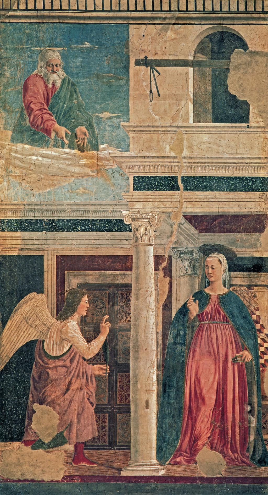 Annunciation by Piero della Francesca | GreenWhiskers