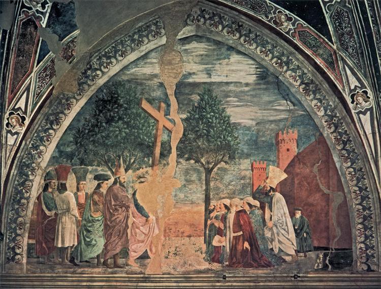 Exaltation of the Cross: Heraclius enters Jerusalem with the Cross, 1464 - Piero della Francesca