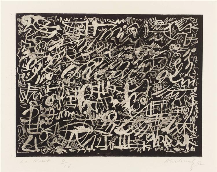 The Night, 1952 - Pierre Alechinsky