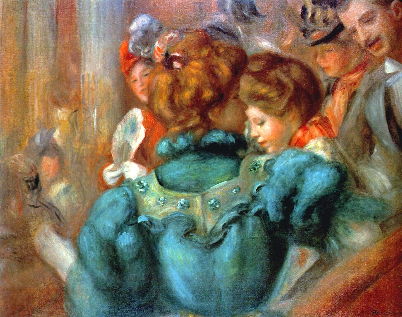 A Box in the Theatre Des Varietes by Pierre-Auguste Renoir, 1898