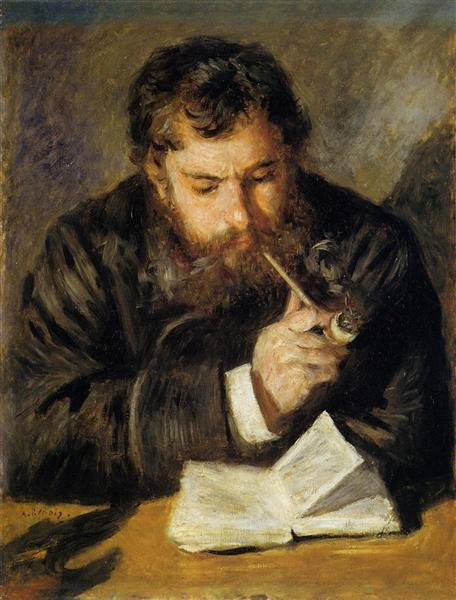 Claude Monet (The Reader) - Renoir Pierre-Auguste