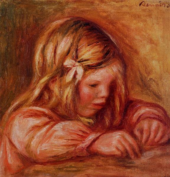 Jean Renoir Writing, c.1899 - Pierre-Auguste Renoir