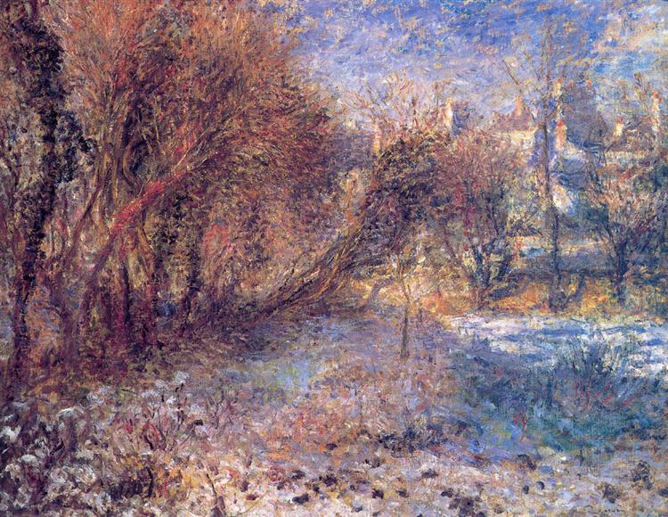 Landscape with Snow, c.1875 - Pierre-Auguste Renoir