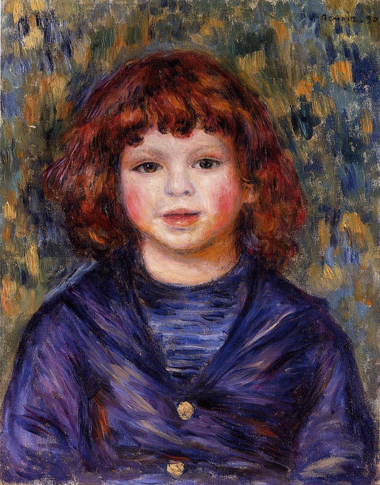 Portrait of pierre renoir in a sailor suit pierre for Auguste renoir