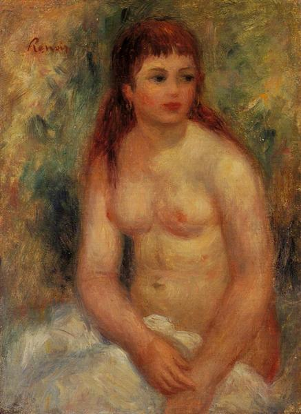 Seated Young Woman, Nude, 1910 - Pierre-Auguste Renoir