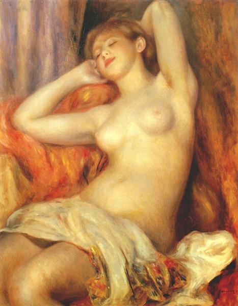 Sleeping woman, 1897 - Pierre-Auguste Renoir
