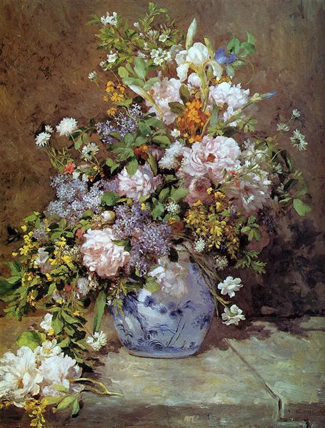 Spring Bouquet, 1866 - Pierre-Auguste Renoir