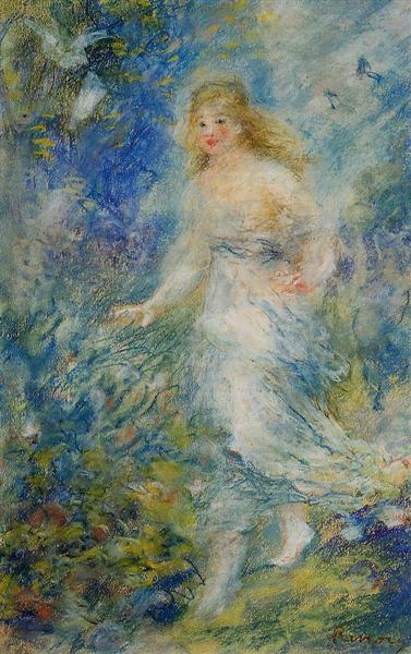 Spring (The Four Seasons), 1879 - Pierre-Auguste Renoir