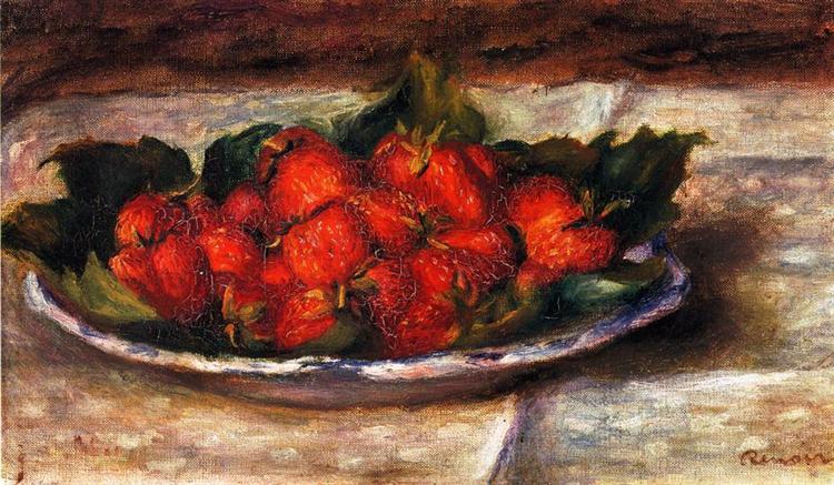 Still Life with Strawberries, c.1880 - Pierre-Auguste Renoir