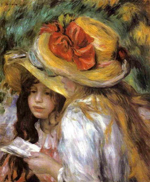 Two Young Girls Reading, c.1890 - 1891 - Pierre-Auguste Renoir