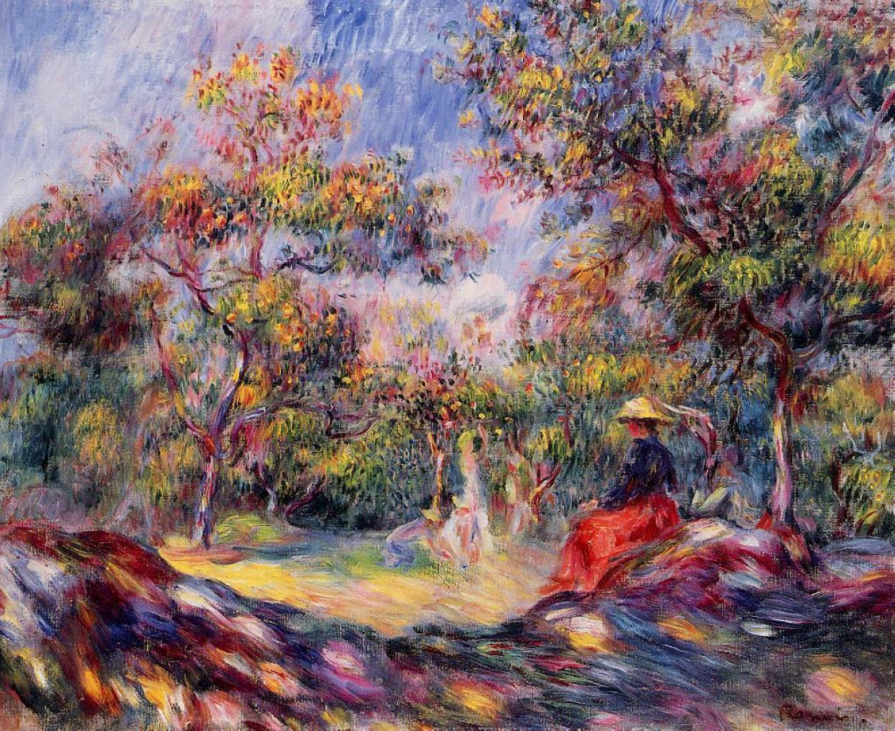 Woman In A Landscape Pierre Auguste Renoir Wikiart Org
