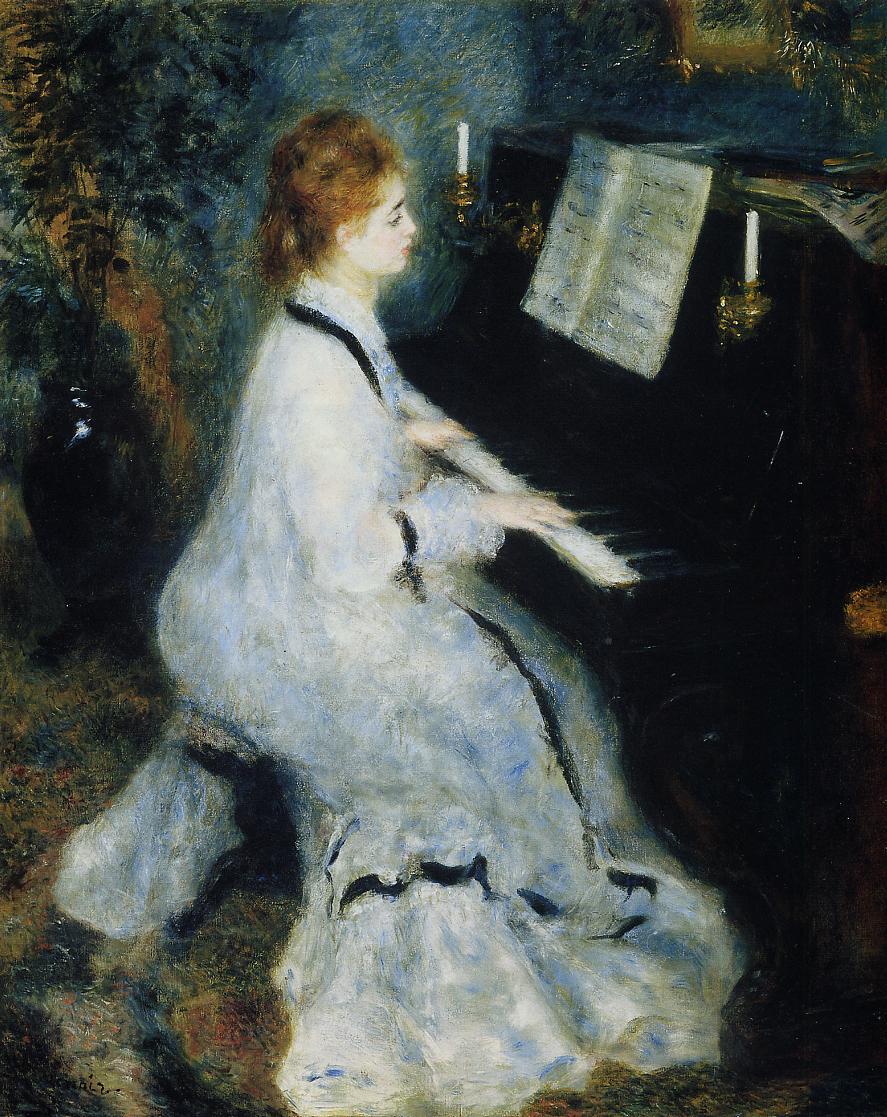 Young Woman At The Piano, 1876