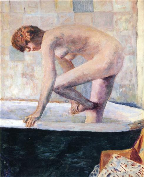 Nude Washing Feet in a Bathtub, 1924 - Pierre Bonnard