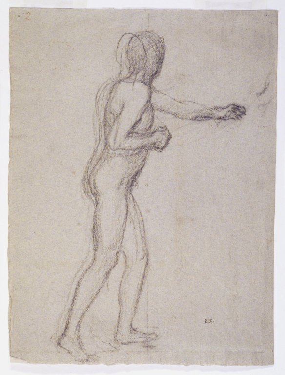 Study of a Standing Male Nude, 1878-1882