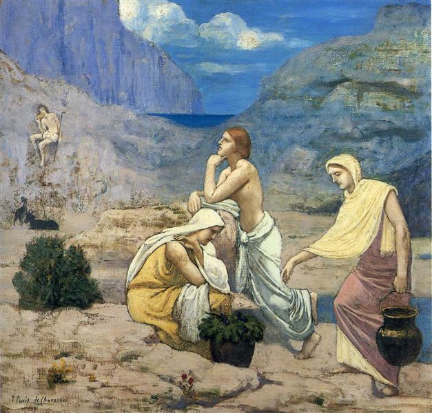 The Song of the Shepherd, 1891 - Pierre Puvis de Chavannes