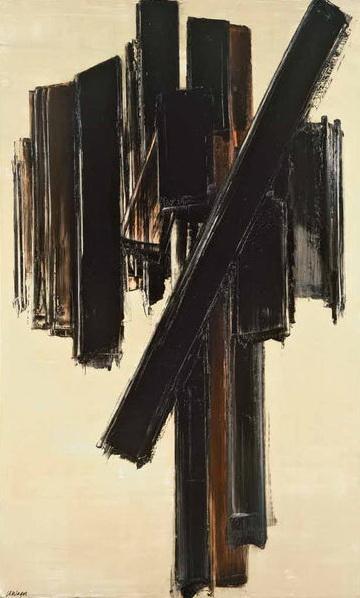 Peinture, 10 juin 1958, 1958 - Pierre Soulages