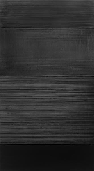 Peinture 324 x 181 cm, 17 novembre 2008, 2008 - Pierre Soulages