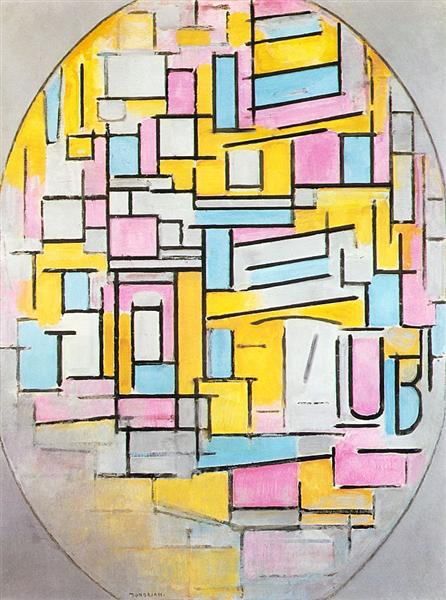 Composition with Oval in Color Planes II, 1914 - Piet Mondrian