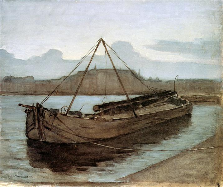 Evening at Weesperzijde Sun, 1900 - Piet Mondrian