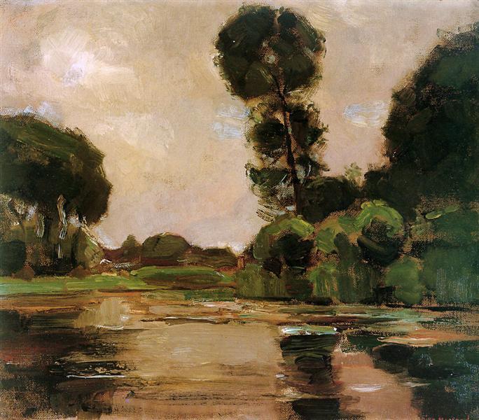 Lonely tree at the Gein Sun, 1907 - Piet Mondrian