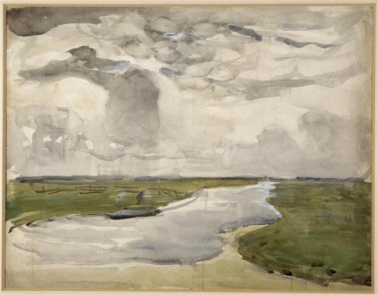 Meandering Landscape with River, 1906 - 1907 - Piet Mondrian