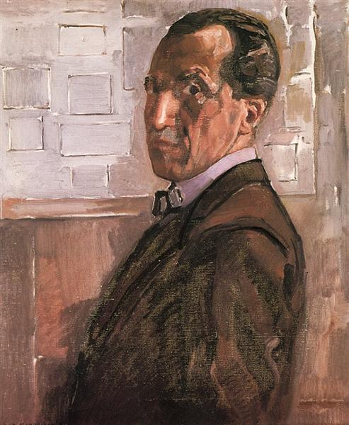 Self Portrait, 1918 - Piet Mondrian