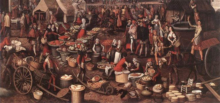 Market Scene, 1550 - Pieter Aertsen