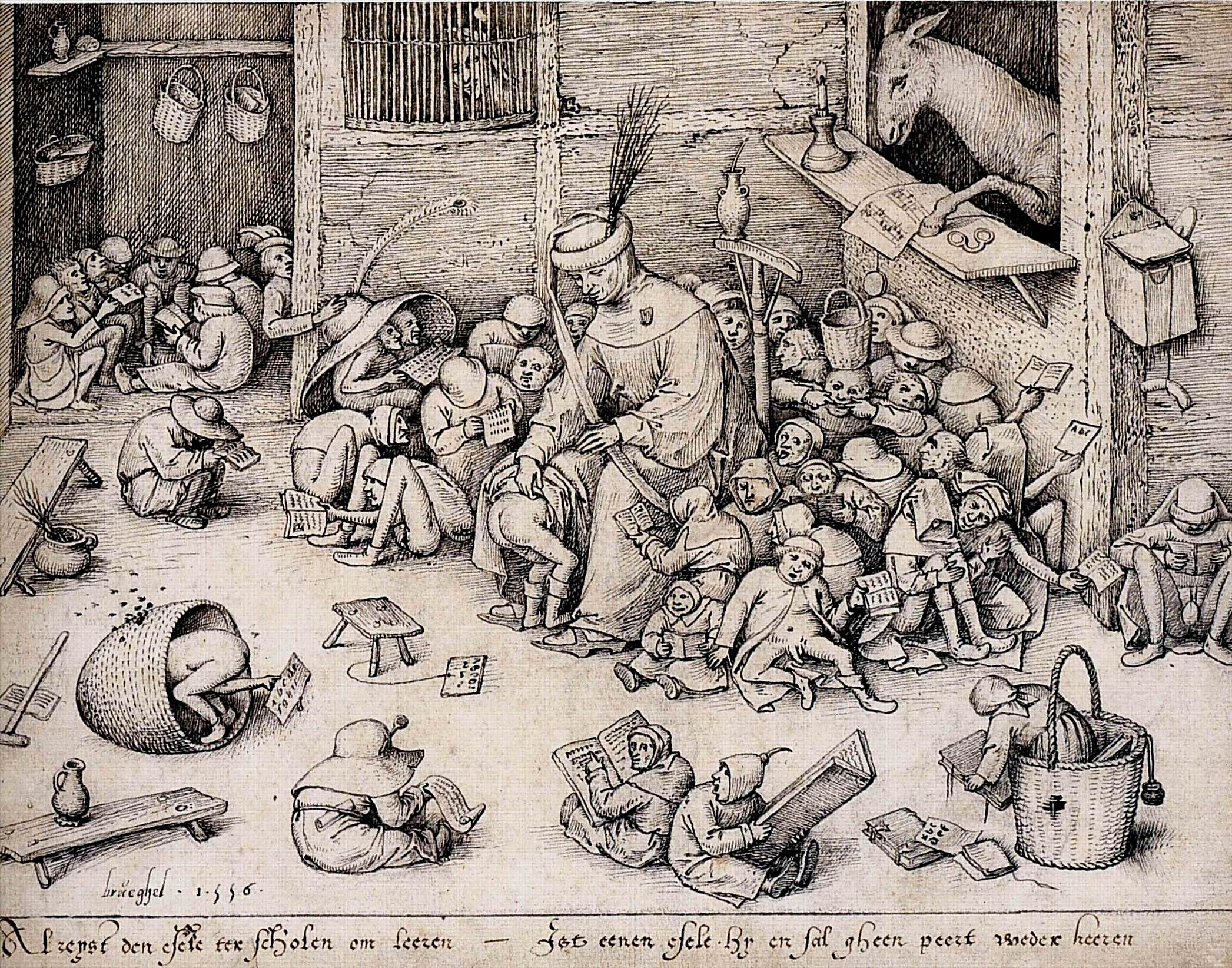 The Ass in the School, 1556