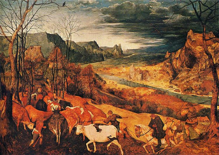 The Return of the Herd (November), 1565 - Pieter Bruegel the Elder