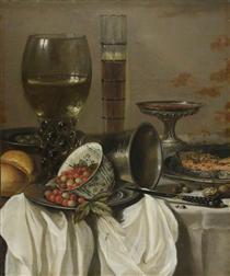 Still Life with Drinking Vessels - Pieter Claesz