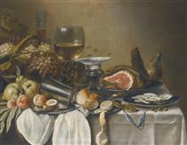 Still Life with Ham - Pieter Claesz
