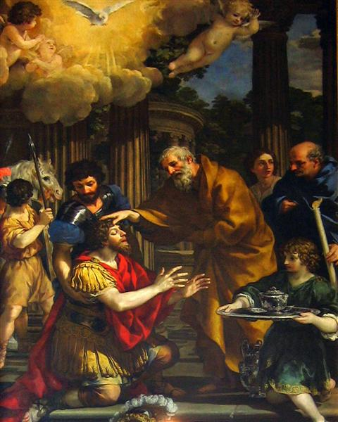 Ananias restoring the sight of Saint Paul, c.1631 - Pietro da Cortona
