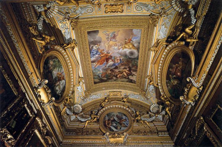 Ceiling Fresco in the Hall of Saturn, 1663 - 1665 - Pietro da Cortona