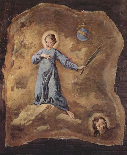 Fresco in San Pantalon in Venice, Scene: Holy Martyr, fragment, 1744 - 1745 - Pietro Longhi