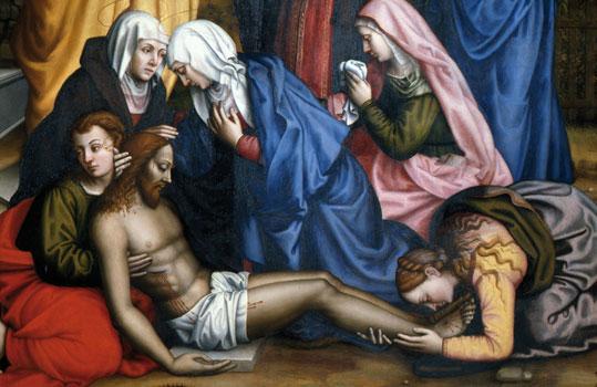Lamentation with Saints (detail), 1569 - Plautilla Nelli