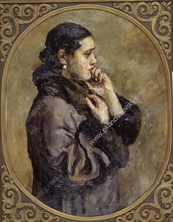 Not taken married.' (Portrait of Natalia Petrovna Konchalovsky, the artist's daughter)., 1925