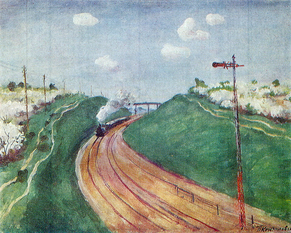 Spring Landscape with train, 1931