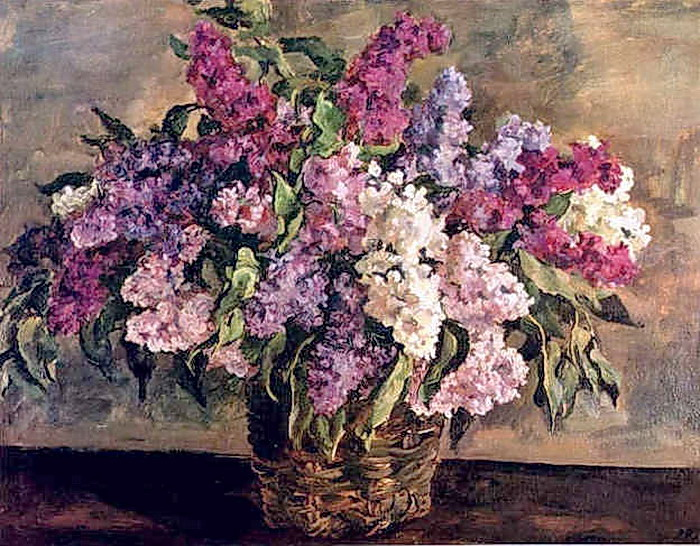 Still Life. Lilacs in a basket ('heroic')., 1933