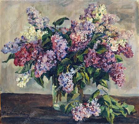 Still Life. Lilacs 'Pyotr Konchalovsky'., 1933