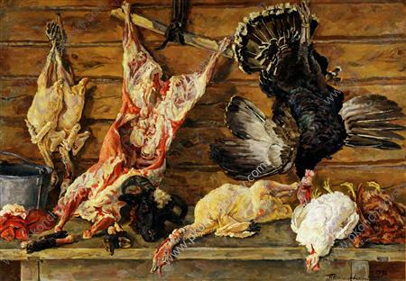 Still Life. Meat and poultry., 1936 - Pyotr Konchalovsky