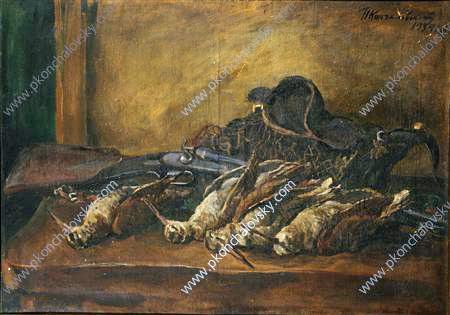 Still Life. Woodcock and gun., 1934