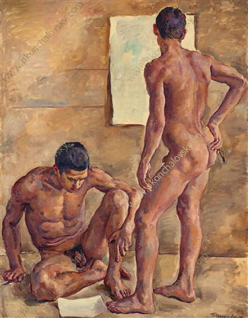 Students in the studio (nude), 1933