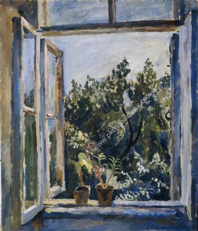 The window. Balsams., 1928