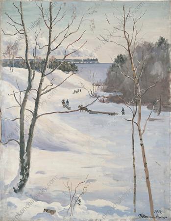 Winter Landscape with train, 1934